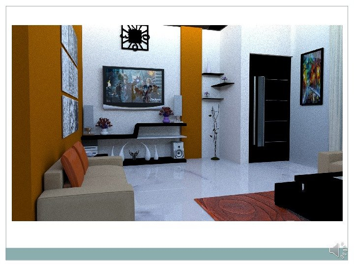 Conceptional Interior 3ds Max Renderd View