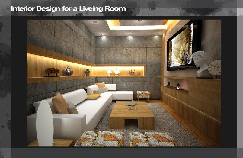 تصميم داخلي لغرفة معيشة القاهرة