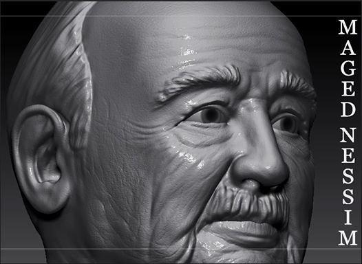من تصميمى تصميم شخصية رجل عجوز
