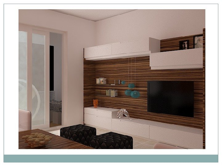 Conceptional Interior TV Unit 3ds Max Renderd View