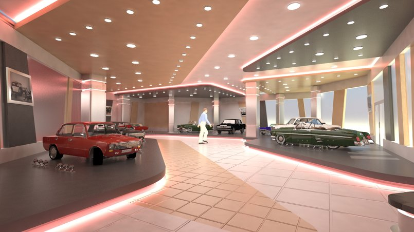 The old car showroom