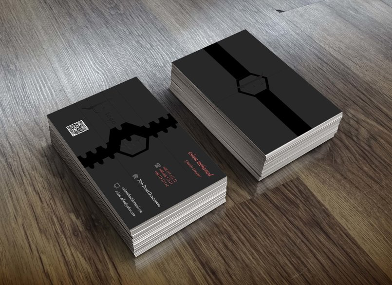 business card كرت أعمال شخصى