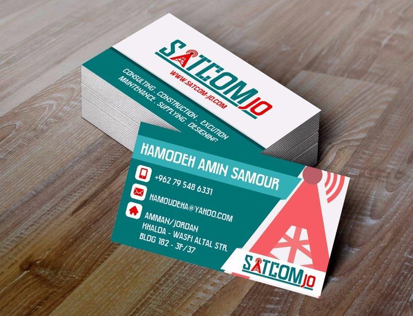 Satcom logo design