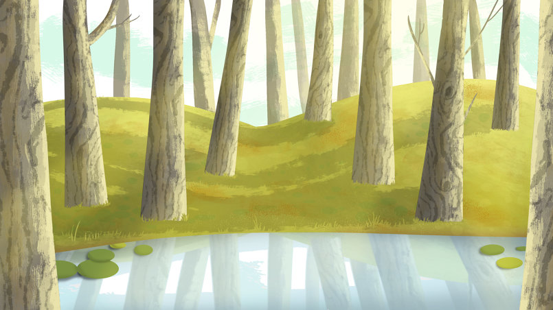 Background design for children's animation