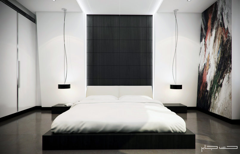 White Modern Bedroom