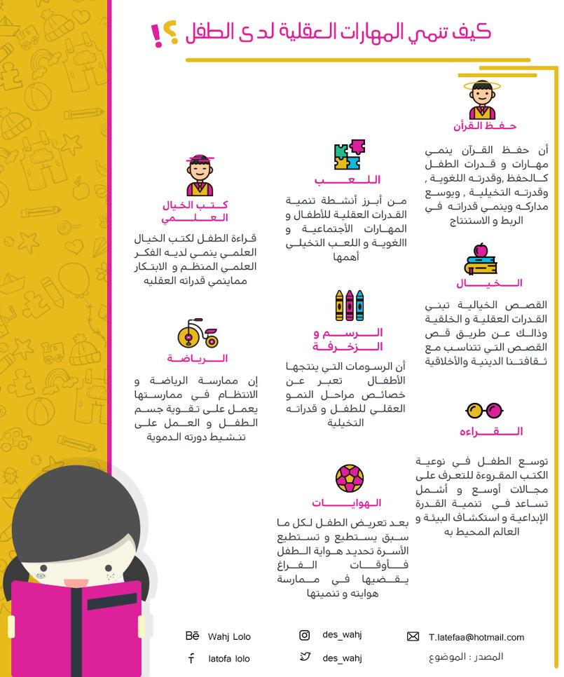 كيف تنمي المهارات العقلية لدى الطفل