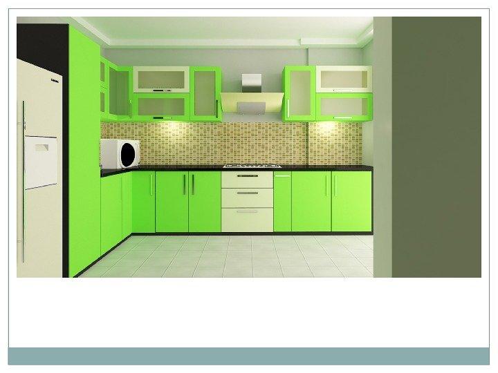 Interior 3ds Max Renderd View of Modular Kitchen