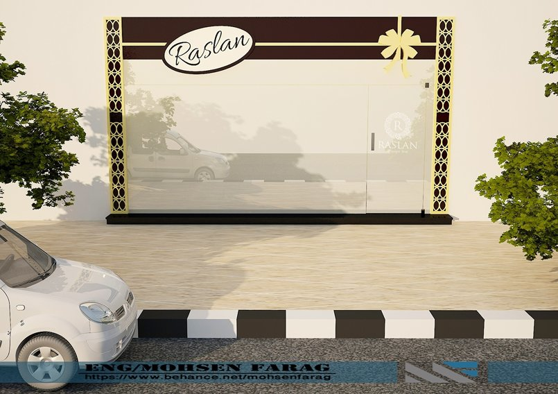 RASLAN CHOCOLATE STORE FACADE DESIGN