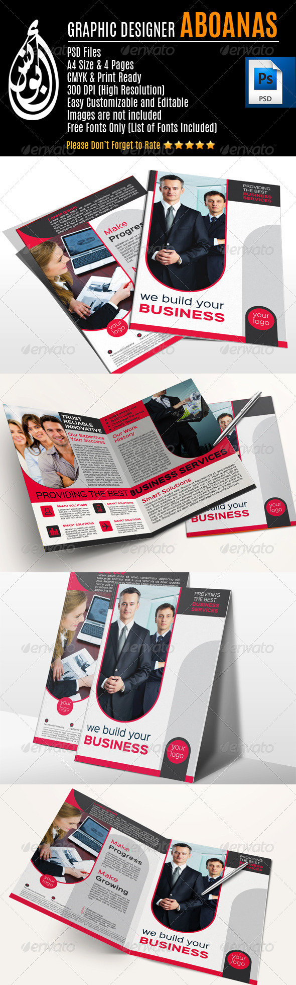 Company Bi-Fold Brochure Template vol_4