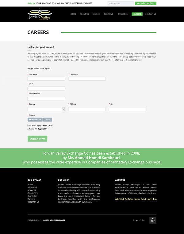 Jordan Valley Website, Responsive,UX-UI