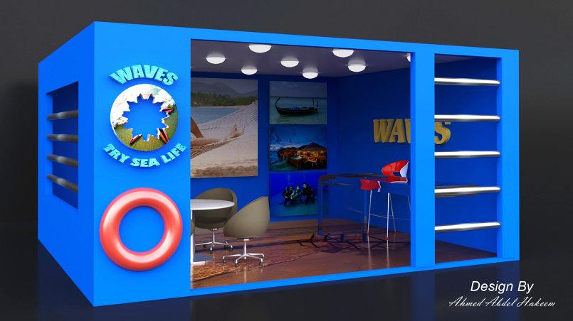 "booth partation - تصميم "" بوث "" لشركة ""views "" لإحدى المعارض"