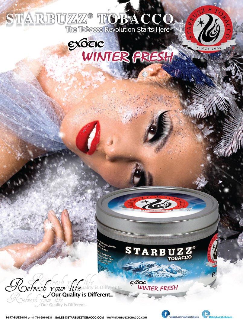 StarBuzz Tobacco Winter fresh Poster