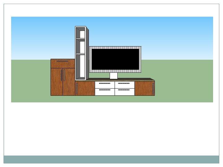 Tv Unit Using Google Sketch Up