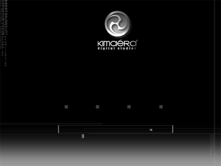 the initial layouts for Kimeara Digital Studios website. The following 3 layouts are some of the different specialization section design.