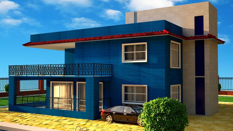 تصميم لمنزل من طابقين على الطراز الحديث - 2 floor house design