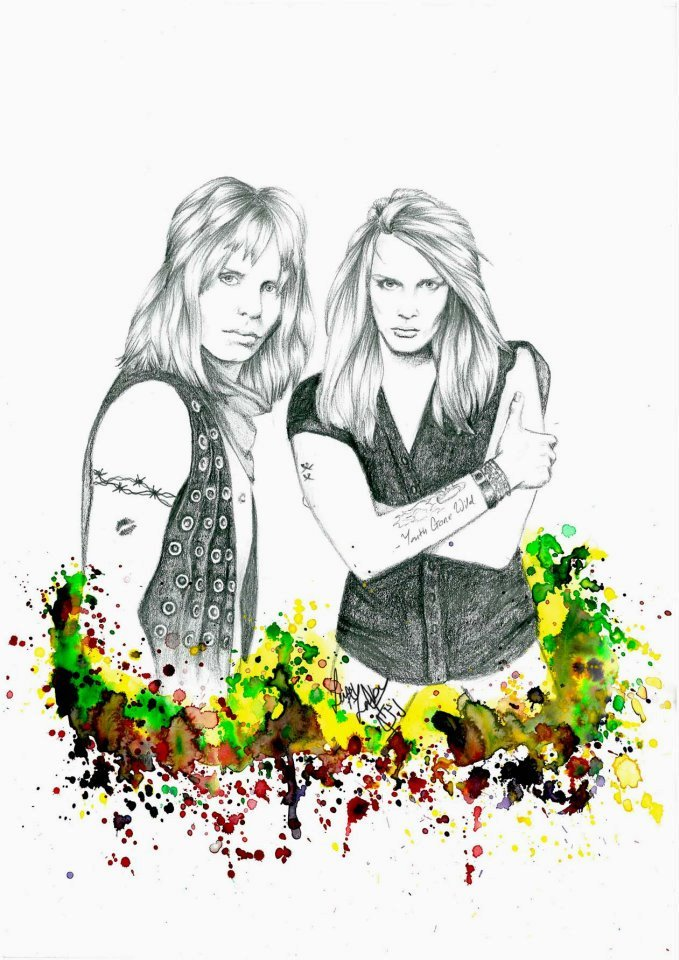 Sebastian Bach & Vince Neil - pencil