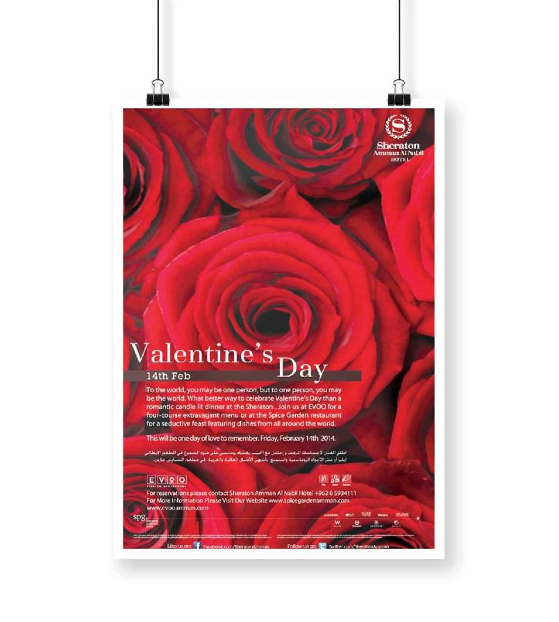 Sheraton Valentines day Poster