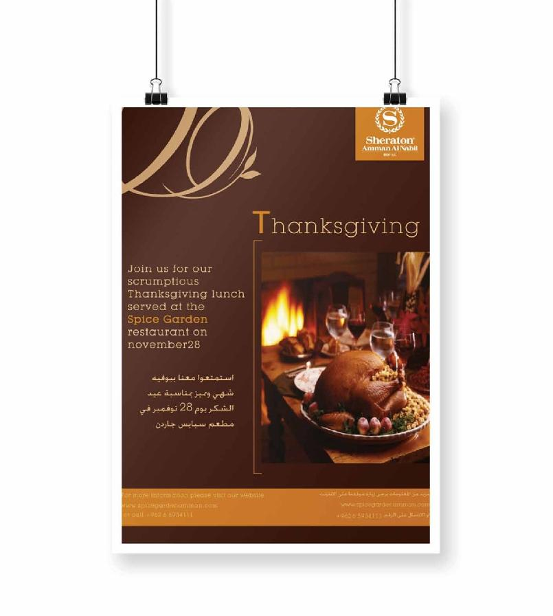 Sheraton Thanks Giving Poster