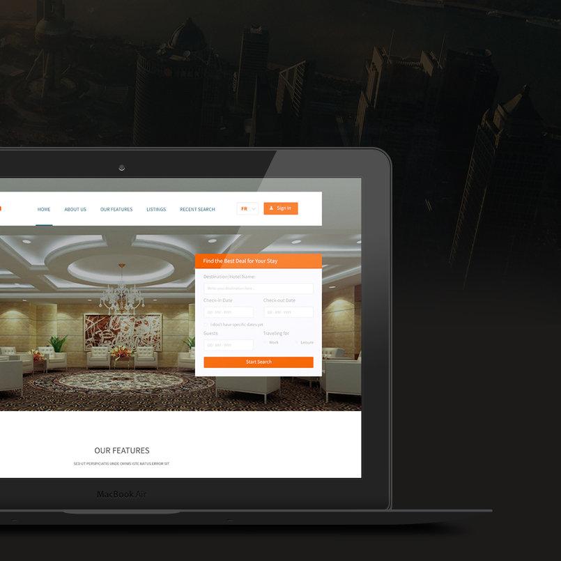 موقع إلكتروني لفندق Instahalls