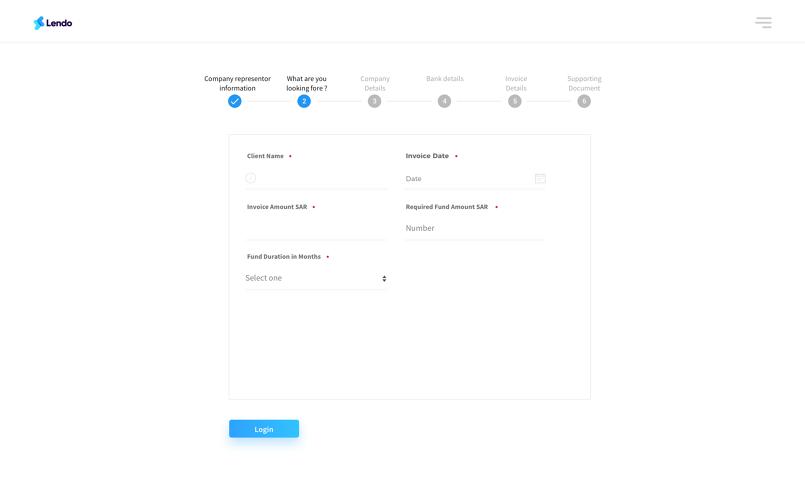 Lendo web application