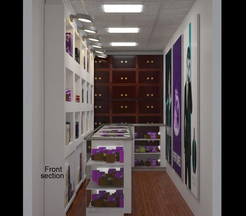 تصميم لمحل عطور - perfume shop