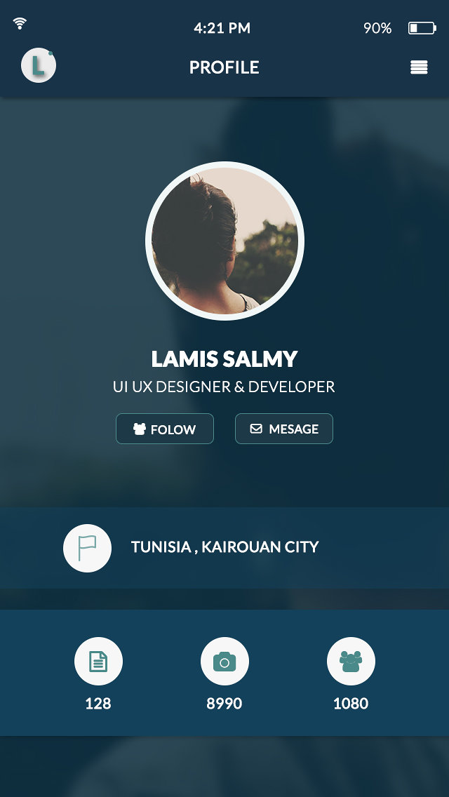 Flat & Modern Mobile app design