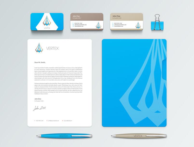 تصيميم هوية تجارية لشركة تصميم تنفيذ معماري