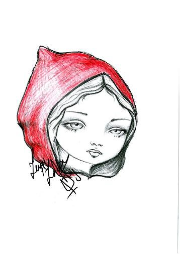 Little Red (Mark Ryden style) - pencil