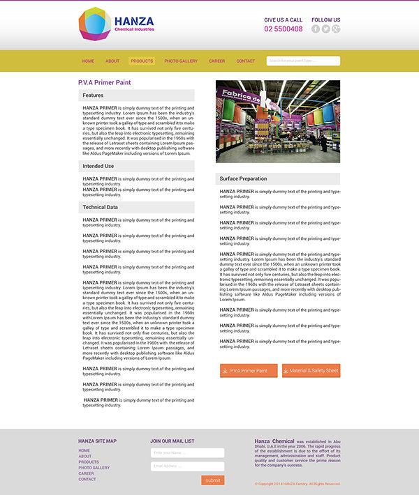 Hanza Chemical Website, Responsive UX-UI