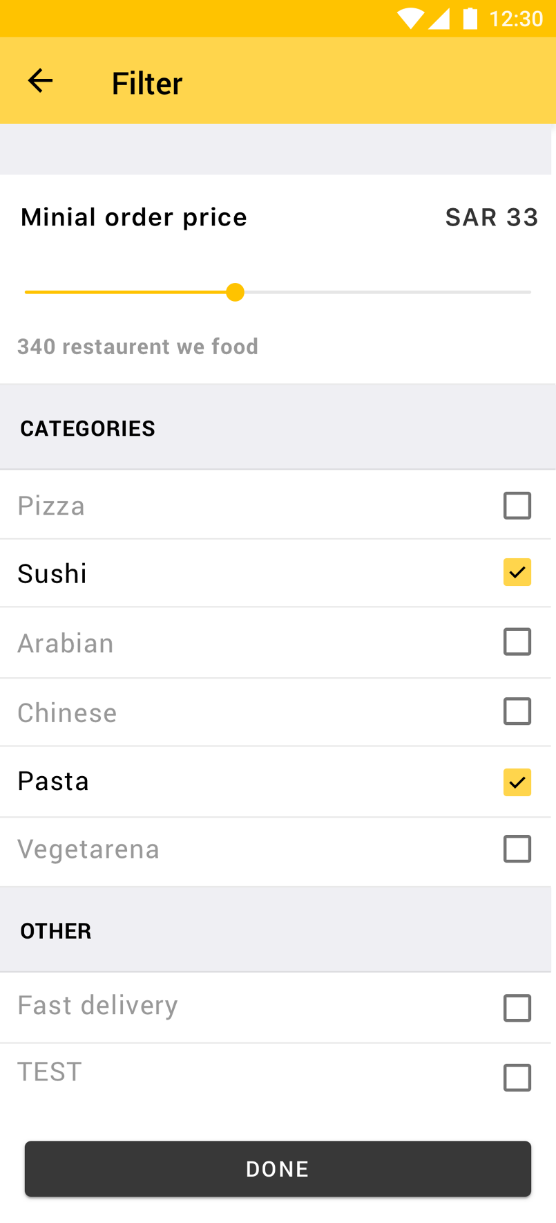 Android Food App