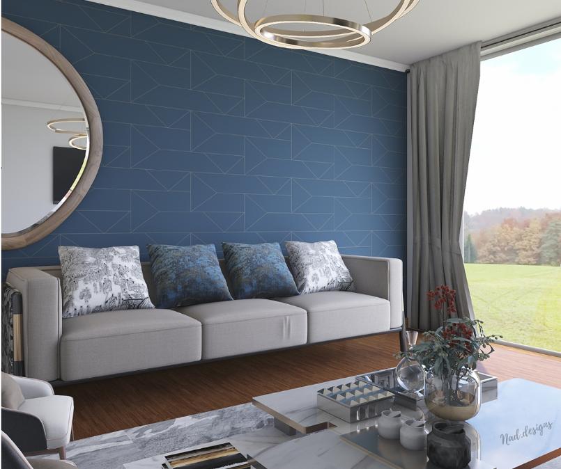تصميم داخلي  لغرفة المعيشة