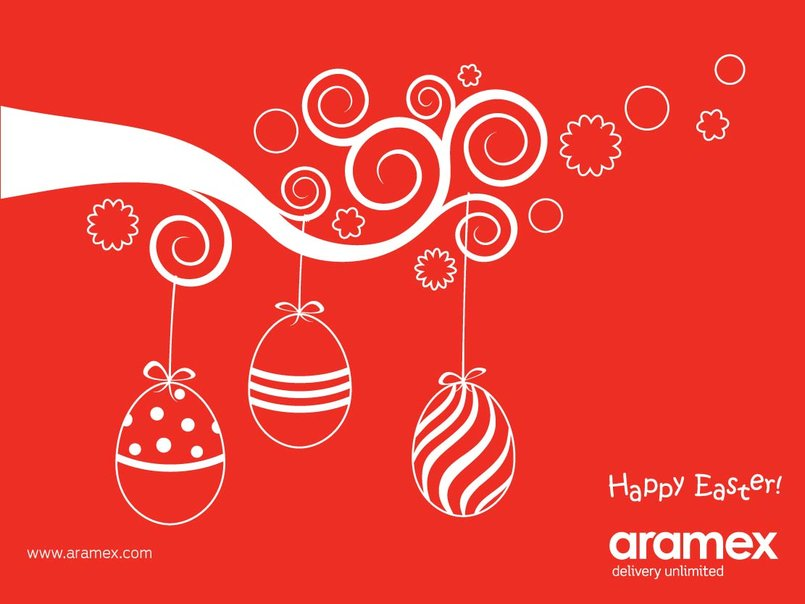 aramex easter card