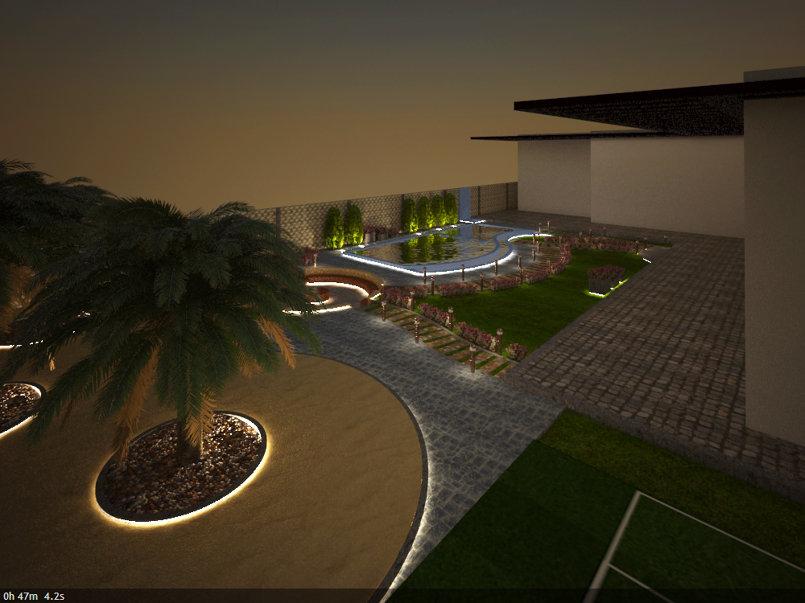 تصميم حديقة فيلا فى الامارات