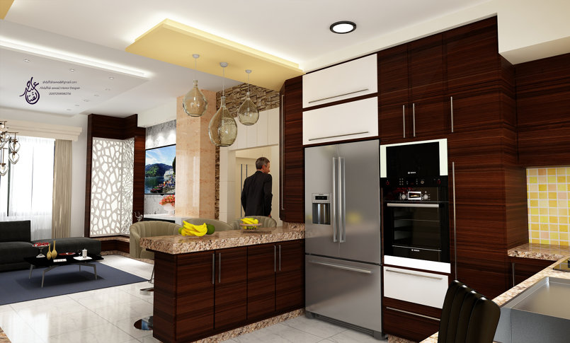 Interior Design for the living room and kitchen