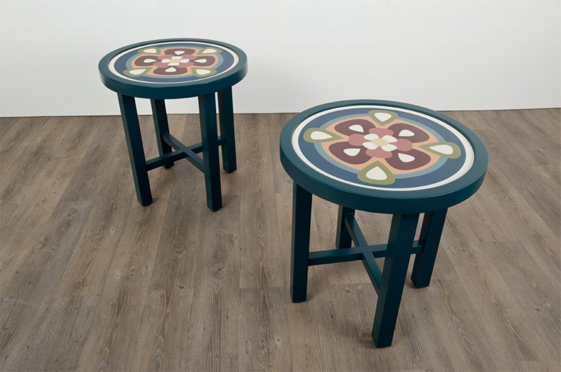 jaleela & zain is a set of two moroccan inspired side tables. a sweet reminder of picturesque lily ponds.