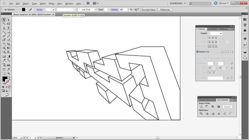 The traced type / title on Illustrator. Fun process.