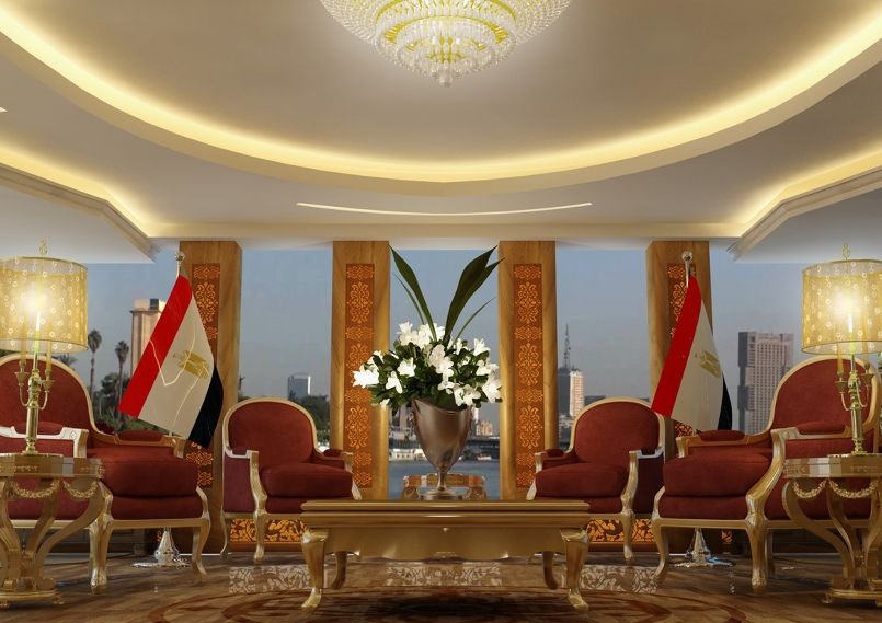Important meeting room in the Nile River