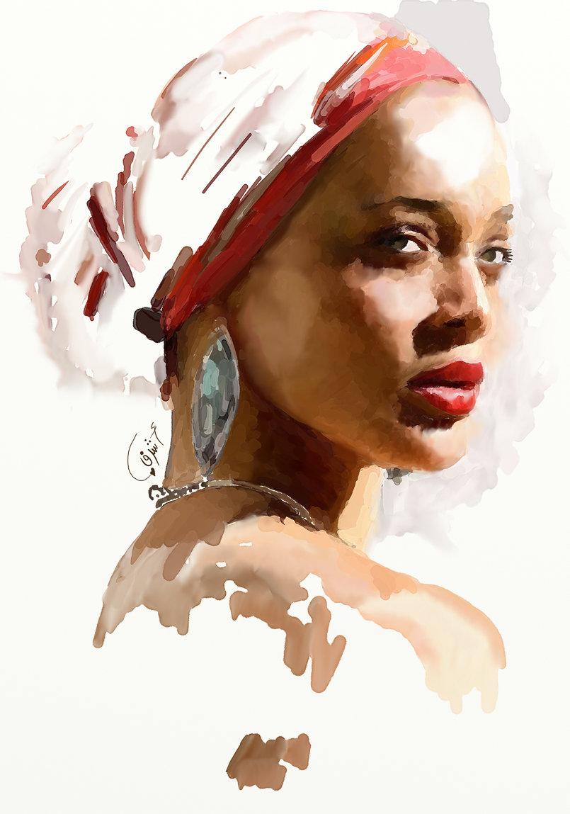 بورتريت افريقي