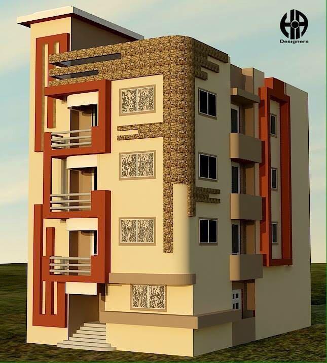 مبني سكني بمدينة المنيا الجديدة تصميم خارجي