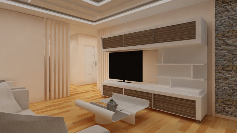 Living Room Modeling and Designing