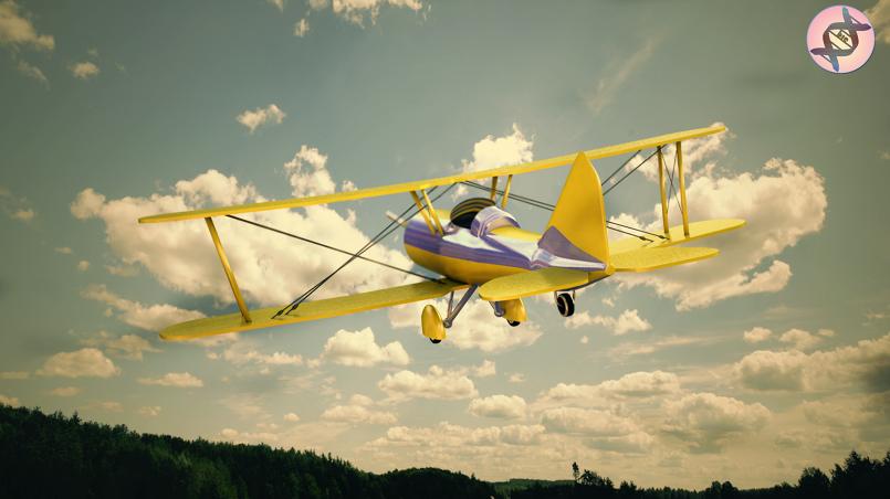 طائرة ثنائية الأجنحة
