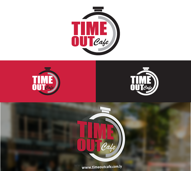 Time Out Cafe Logo Design
