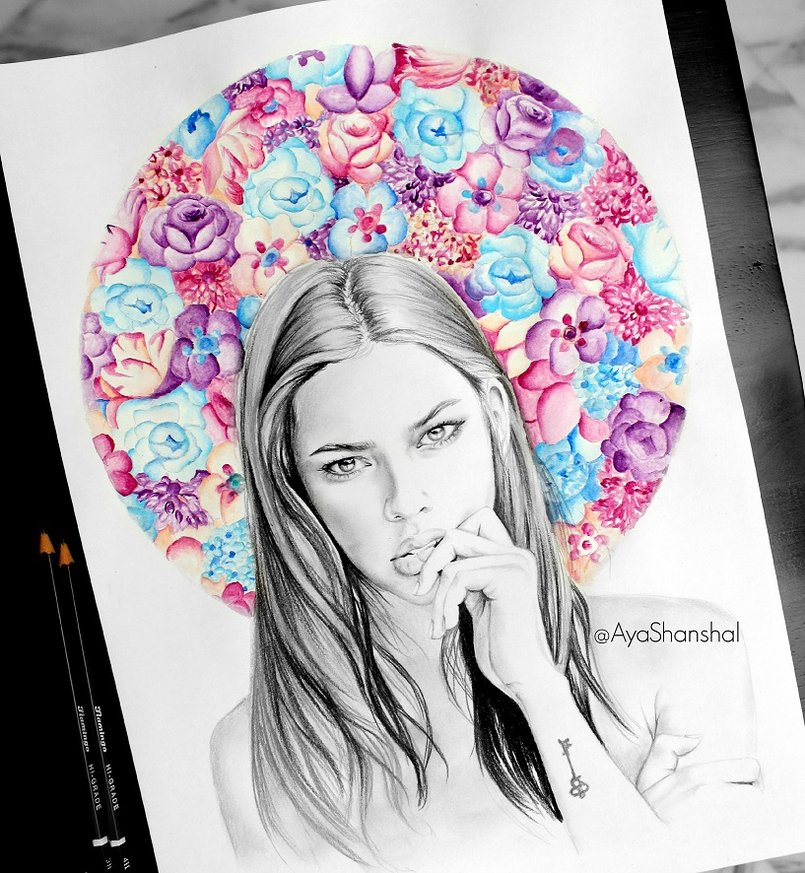 Flowers Mixed Media artwork
