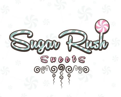 Sugar Rush Sweets Branding