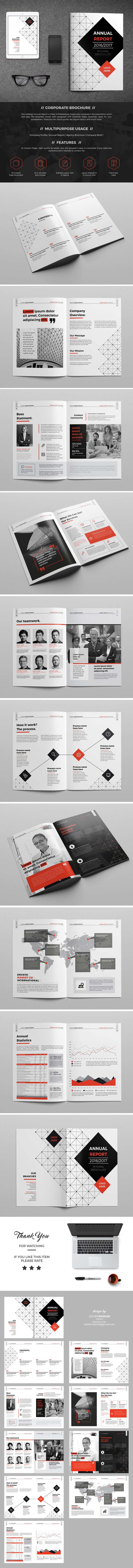 Minimal Red & Black Brochure Template