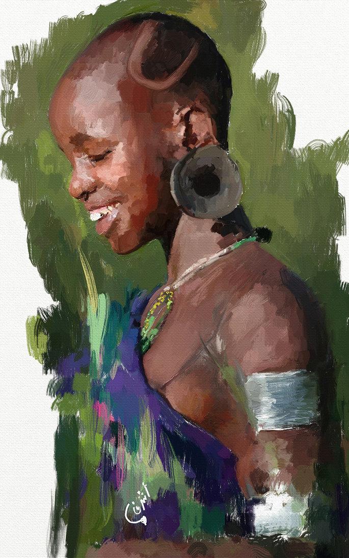 معرض ديقيتال ارت وجوه افريقية