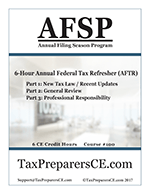 2018 Annual Federal Tax Refresher