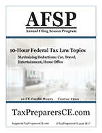 10-Hour Federal Tax Law Topics