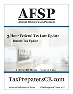 3-Hour Federal Tax Law Update