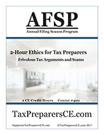 Ethics for Tax Preparers
